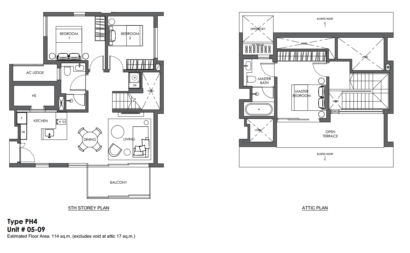 10 evelyn floor plan 3 bedroom penthouse type ph4